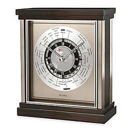 Bulova Wyndmere 9-Inch Table Clock in Ebony