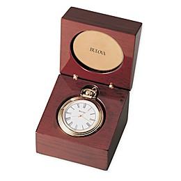 Bulova Ashton Table Clock in Mahogany