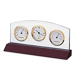 Bulova Weston Table Clock in Mahogany