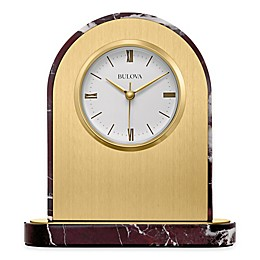 Bulova Desire Table Clock in Brushed Brass