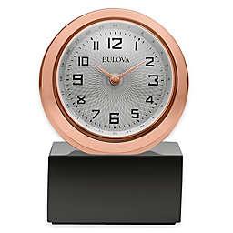 Bulova Sphere Table Clock in Rose Gold
