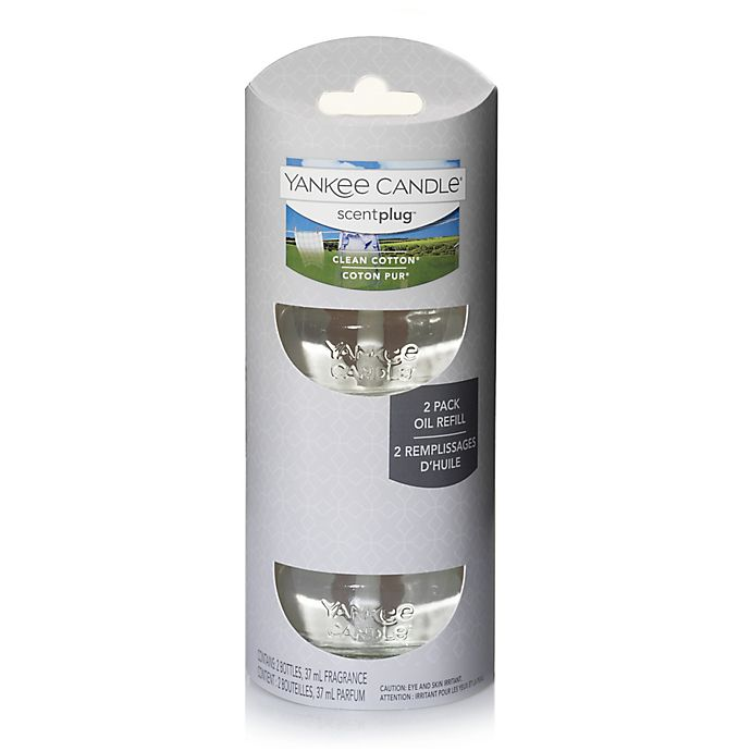 Alternate image 1 for Yankee Candle® Scentplug® Clean Cotton® Refill (Set of 2)
