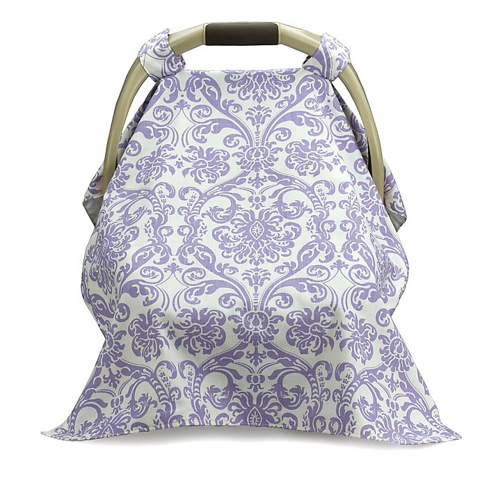 Alternate image 1 for Liz and Roo Car Seat Carrier Cover in Lavender/White