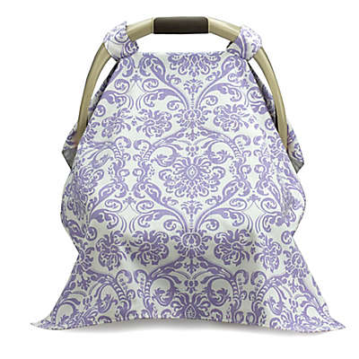 Liz and Roo Car Seat Carrier Cover in Lavender/White