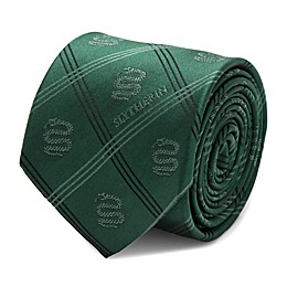 Harry Potter Slytherin Plaid Tie in Green