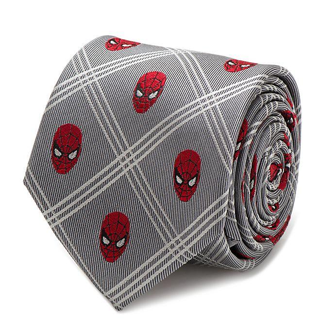 Alternate image 1 for Marvel® Spider-Man Plaid Tie in Grey