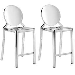 Zuo® Eclipse Counter Chairs in Gold (Set of 2)