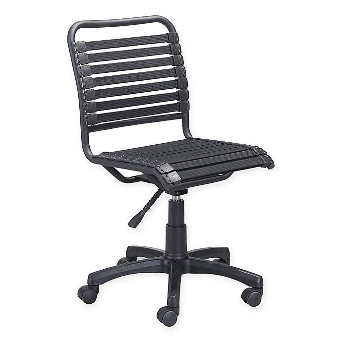 Tremendous Zuo Modern Linen Swivel Office Chair In Black Bed Bath Evergreenethics Interior Chair Design Evergreenethicsorg