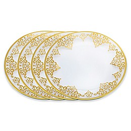 Classic Touch Vivid Charger Plates in Gold (Set of 4)
