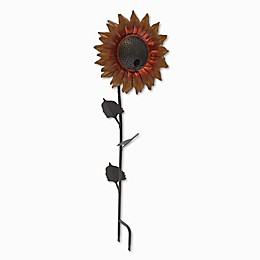 Desert Steel Sunflower Bird Feeder in Orange