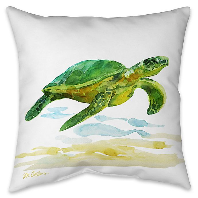 Alternate image 1 for Sea Turtle I Indoor/Outdoor Throw Pillow