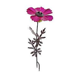 Desert Steel Pink Cosmos 42-Inch Metal Garden Torch