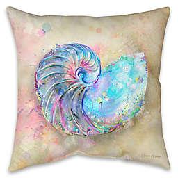 Splatter Nautilus Indoor/Outdoor Throw Pillow