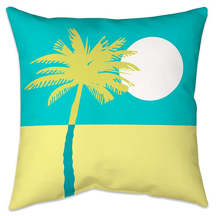 Alternate image 1 for Colorblock Palm Indoor/Outdoor Throw Pillow
