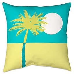 Colorblock Palm Indoor/Outdoor Throw Pillow