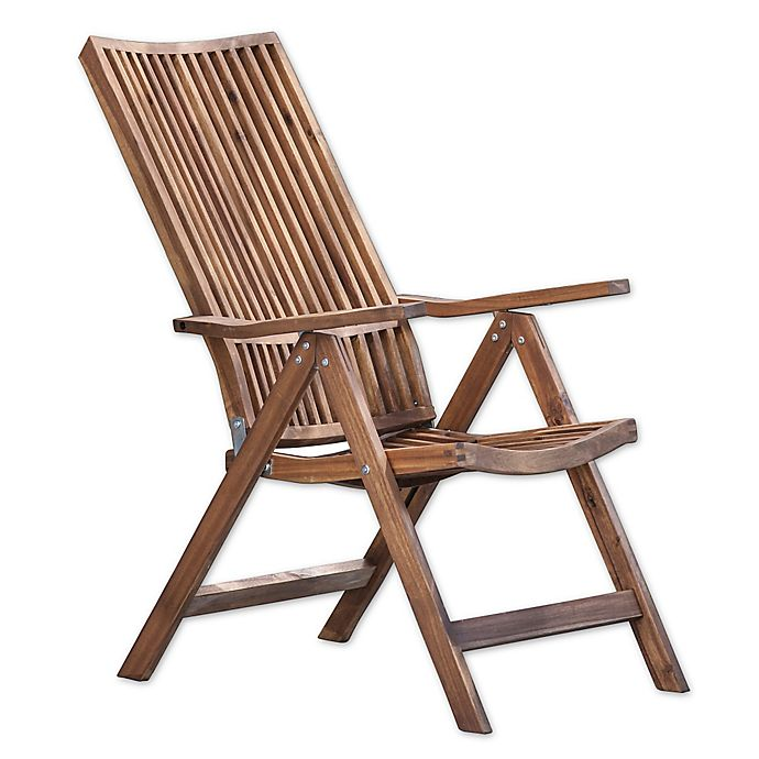 Alternate image 1 for A & B Home Bayside Retreat Adjustable Lounge Chair in Teak