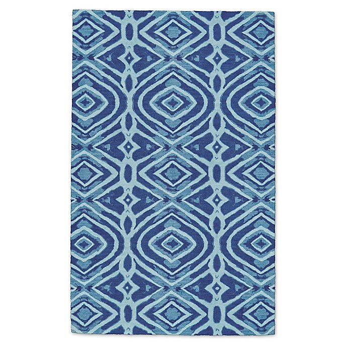 Alternate image 1 for Feizy Lonni Diamonds Indoor/Outdoor Area Rug in Blue