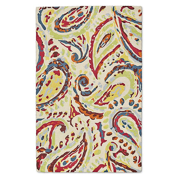 Alternate image 1 for Feizy Lonni Paisley 9-Foot x 12-Foot Indoor/Outdoor Multicolor Area Rug