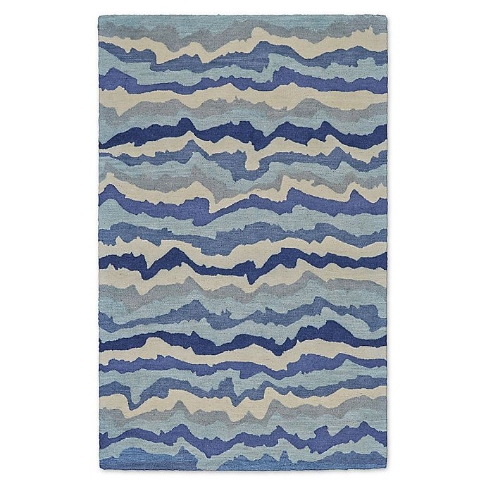 Alternate image 1 for Feizy Lonni Wavy 9-Foot x 13-Foot Indoor/Outdoor Area Rug in Blue