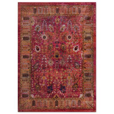Home Dynamix Melville Area Rug In Red Bed Bath And