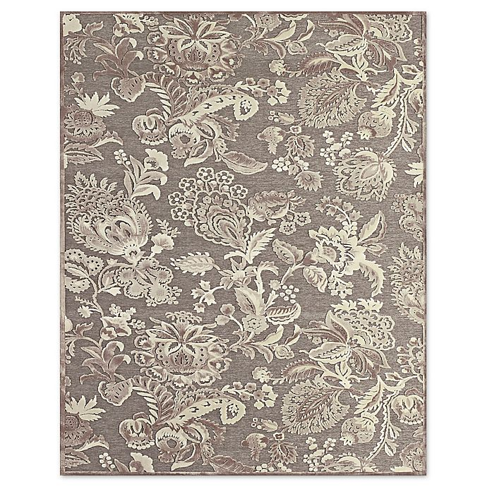 Alternate image 1 for Feizy Penelope Floral 8-Foot 8-Inch x 12-Foot 7-Inch Indoor/Outdoor Rug in Grey