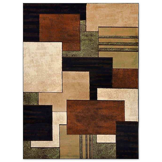 Home Dynamix Tribeca Box Area Rug In Brown/Green