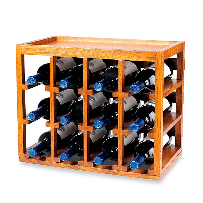 Wine Enthusiast 12 Bottle Wooden Wine Rack Bed Bath Amp Beyond