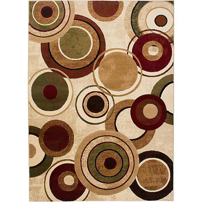 Alternate image 1 for Home Dynamix Tribeca Radiating Circles Area Rug in Ivory/Multicolor