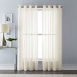 Wamsutta® 63-Inch Grommet Top Sheer Window Curtain Panel in Ivory