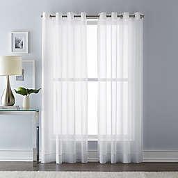 Wamsutta® 63-Inch Grommet Top Sheer Window Curtain Panel in White (Single)