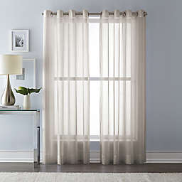 Wamsutta® 95-Inch Grommet Top Sheer Window Curtain Panel in Linen