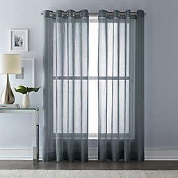 Wamsutta® 63-Inch Grommet Top Sheer Window Curtain Panel in Charcoal