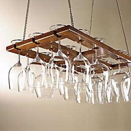 Wine Enthusiast MahoganyWine Glass Rack