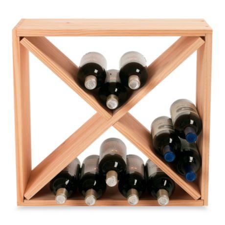 24 Bottle Wooden Wine Rack Cube