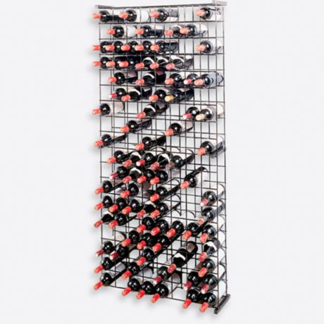 Wine Enthusiast 144 Bottle Metal Grid Wine Rack Bed Bath