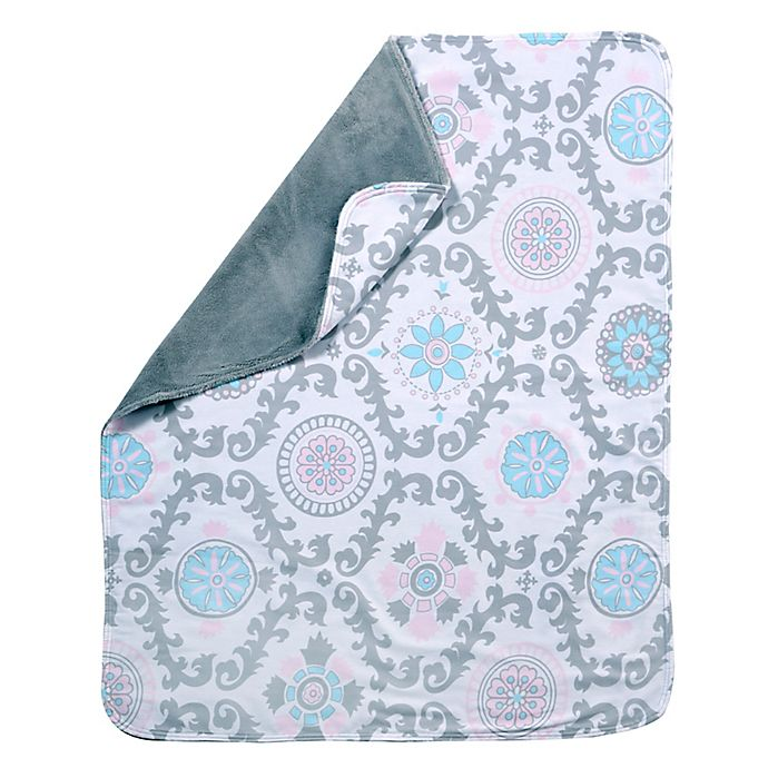Alternate image 1 for Pali™ Stella Crib Blanket in Blue