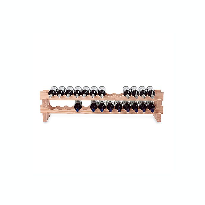 Alternate image 1 for Wine Enthusiast 26-Bottle Pine Wine Rack