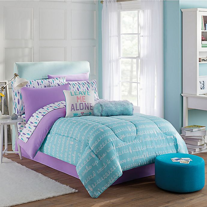 Alternate image 1 for Claudette 8-Piece Full Comforter Set in Purple/Blue