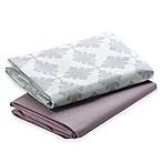 Graco® Pack 'n Play® 2-Pack Waterproof Sheets in Pink/Grey