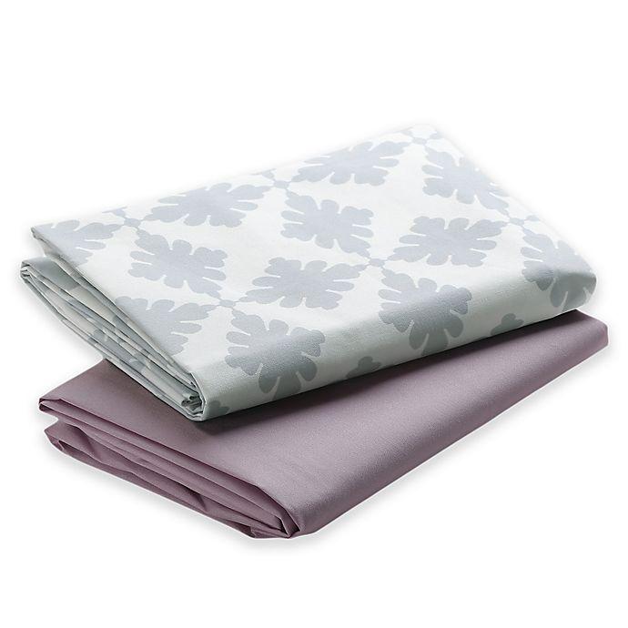Alternate image 1 for Graco® Pack 'n Play® 2-Pack Waterproof Sheets in Pink/Grey