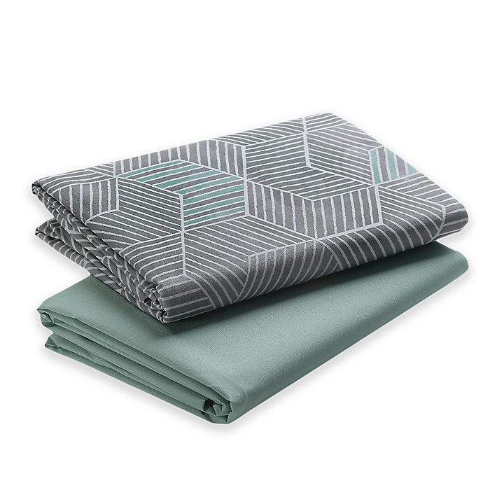 Alternate image 1 for Graco® Pack 'n Play® 2-Pack Waterproof Sheets in Grey/Blue