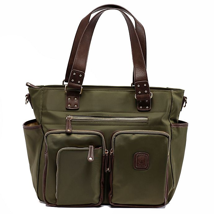 Alternate image 1 for Cee Cee & Ryan Kennedy Diaper Bag in Olive