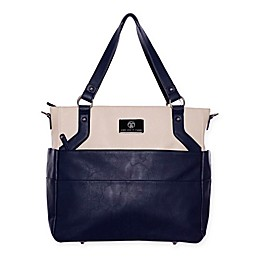 cee cee & ryan Lexy Diaper Bag in Navy/Cream