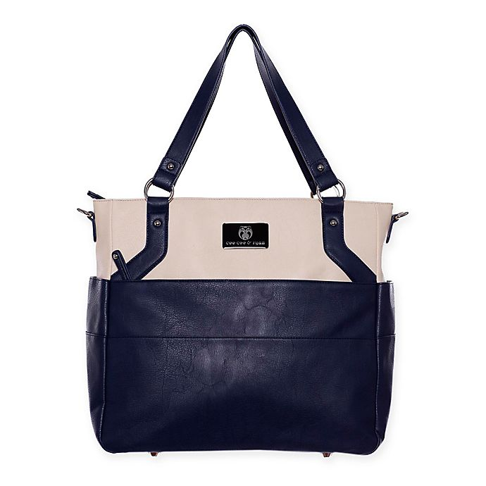 Alternate image 1 for cee cee & ryan Lexy Diaper Bag in Navy/Cream