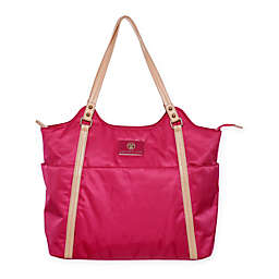 Cee Cee & Ryan Stef Diaper Bag in Dark Pink