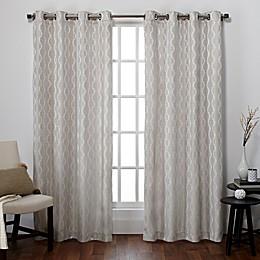 Exclusive Home Baroque Grommet Top Window Curtain Panel Pair