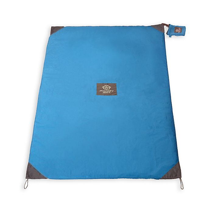 Alternate image 1 for Monkey Mat® Portable Multi-Purpose 5-Foot x 5-Foot Mat in Compact Pouch in Blue