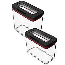 T-Fal Rectangular Food Storage Container in Black/Clear