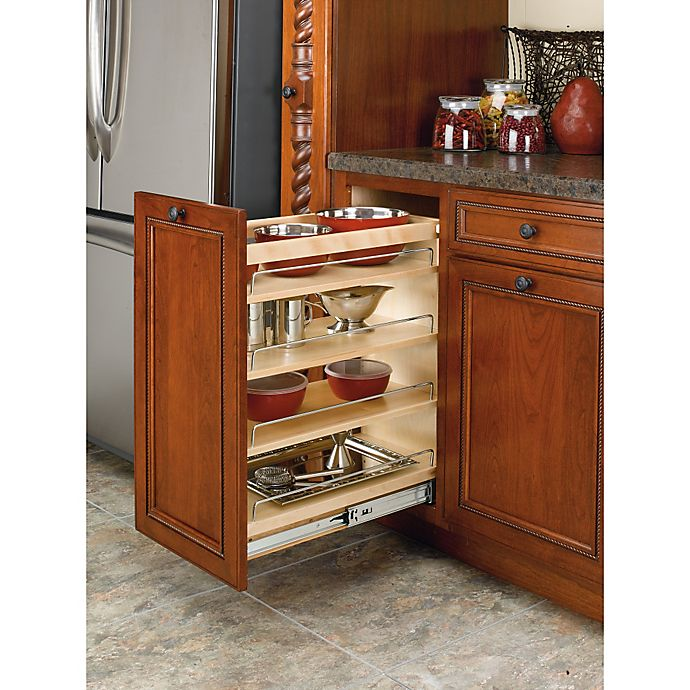 Alternate image 1 for Rev-A-Shelf - 448-BCSC-11C - 11 in. Pull-Out Wood Base Cabinet Organizer with Blum soft-close slides