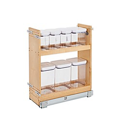 Rev-A-Shelf - 448OXO-BCSC-8C - 8 in. Pull-Out Wood Base Cabinet OXO Organizer with Soft-Close Slides